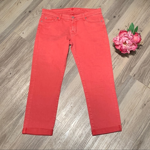 7 For All Mankind Denim - 7 for All Mankind Skinny Crop and Roll Jeans